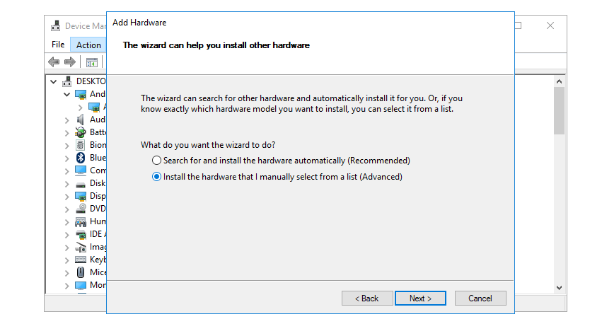 manually installing specific amd drivers