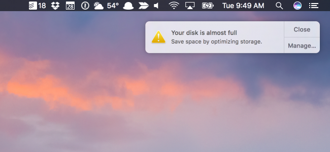 how to manually free up disk space