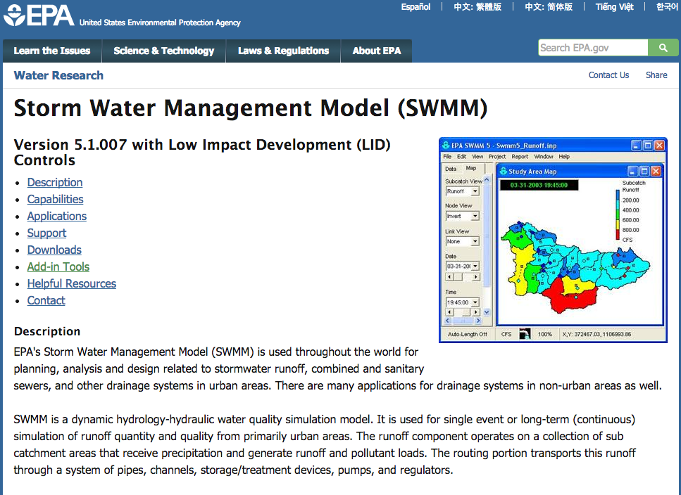 stormwater management planning and design manual swmm